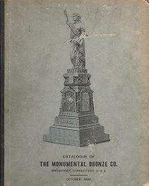 Cover of: White bronze monuments, statuary, portrait medallions, busts, statues, and ornamental art work | Monumental Bronze Co
