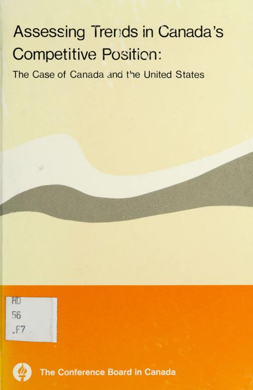 Assessing trends in Canada's competitive position by James G. Frank
