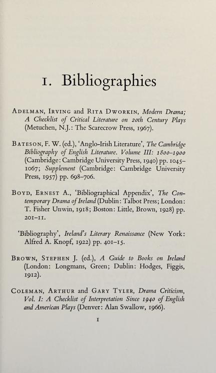 A bibliography of modern Irish drama, 1899-1970 by E. H. Mikhail