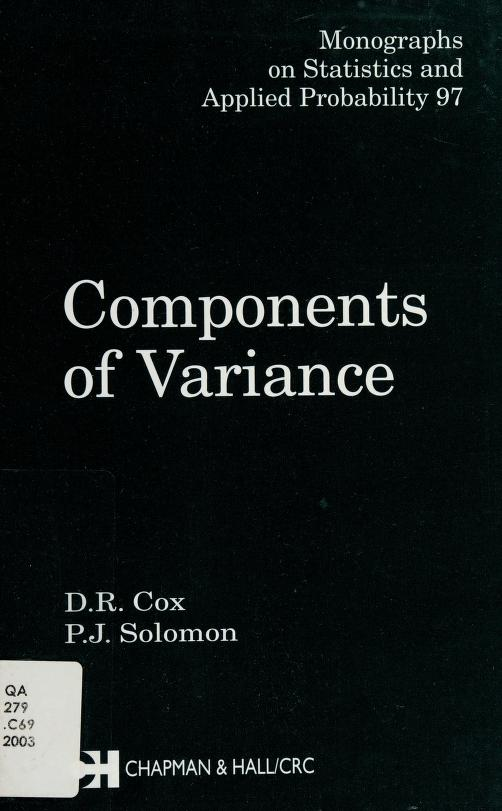 Components of variance by Cox, D. R.