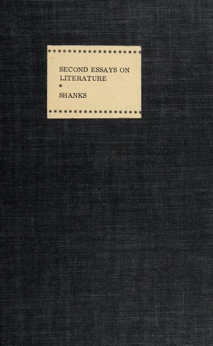 Second essays on literature by Shanks, Edward