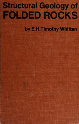 Cover of: Structural geology of folded rocks   E. H. Timothy Whitten